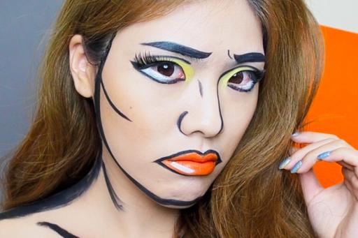 Comic Makeup แต่งหน้าการ์ตูนวันฮัลโลวีน !!!