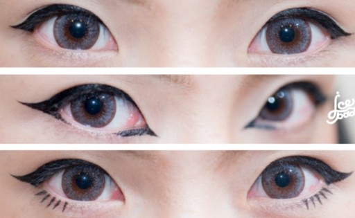 HOW TO กรีดอายไลเนอร์ 3 แบบ 3 สไตล์ + REVIEW อายไลเนอร์ 1028 Visual Therapy