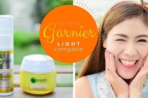 REVIEW โปรแกรมหน้าใสภายใน 3 วัน ด้วย Garnier Light Complete