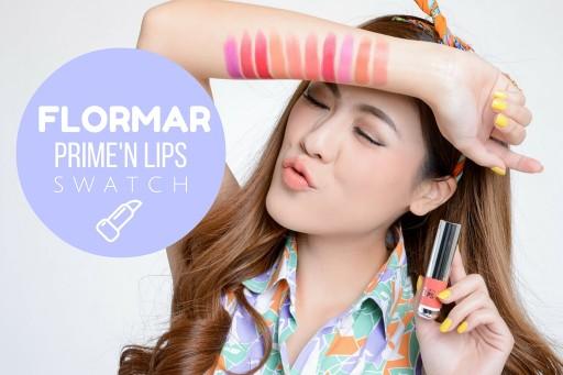 SWATCH ลิปสติกเนื้อนุ่ม Flormar Prime'N Lips