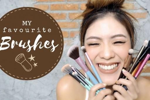 my FAVOURITE makeup brushes! แปรงแต่งหน้าอันโปรด + ของที่ใช้ล้างแปรง | icepadie