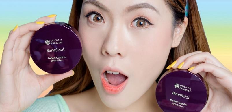 REVIEW คุชชั่นแบรนด์ไทย ถูกและดี Oriental Princess Beneficial Perfect Cushion SPF 50 PA+++