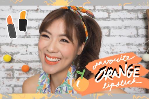 HAUL top 10 orange lipstick ลิปสติกสีส้มที่ชอบมั่ก !!!