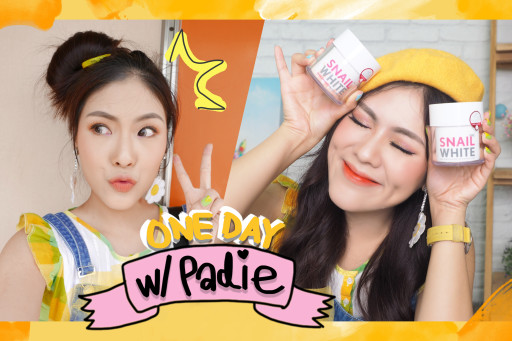 VLOG one day with PADIE #3 ทำผม-ประชุม-snail white